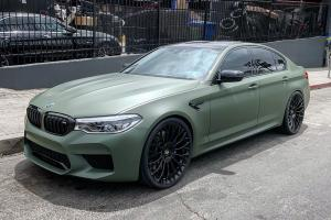 2019 BMW M5 Military Green on Forgiato Wheels (RDB-M)